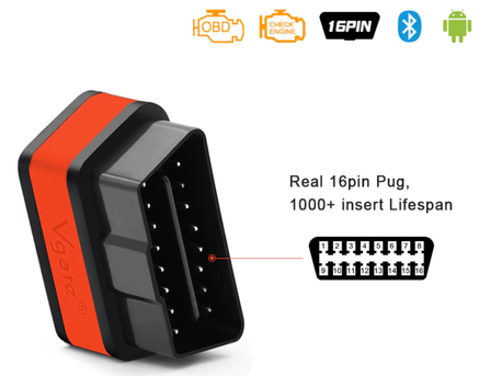 Interfejs iCar2 Bluetooth OBDII ELM327 Vgate Orange (5)