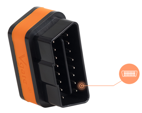 Interfejs iCar2 Bluetooth OBDII ELM327 Vgate Orange (7)